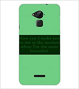 PrintDhaba Quote D-3484 Back Case Cover for COOLPAD NOTE 3 LITE (Multi-Coloured)