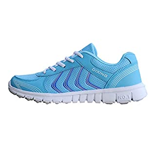 DAYSEVENTH Fashion New Women's Sports Breathable Mesh Lightweight Wearable Running Shoes(Blue, CN 43(UK 7.5))