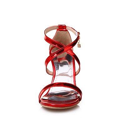 Sommer Schuhe Damen Sandalen Büro Kleid Party & Festivität-PU-Stöckelabsatz-D'Orsay und Zweiteiler-Gold Silber Purpur Rot Gold