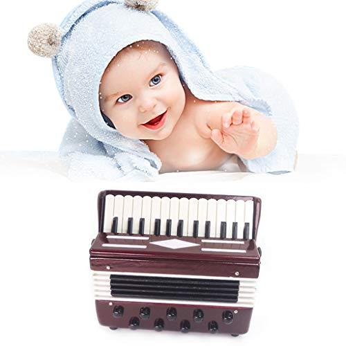 Lisanl 1/12 Puppenhaus Zubehör Holz Akkordeon Miniatur Musikinstrumente Modell-Kollektion