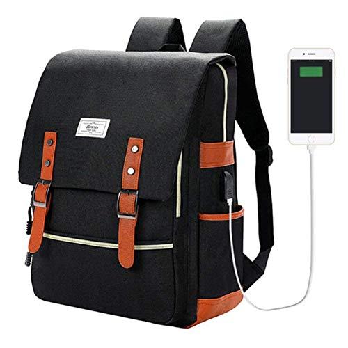 Unisex College-Tasche für Laptops mit Einer Bildschirmdiagonale von bis zu 39,6 cm (15,6 Zoll) Black3WithUSB 15.6 inch, 15 inch, 14 inch, 13 inch -