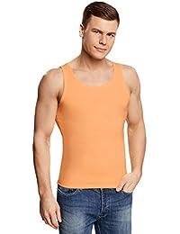 oodji Ultra Hombre Camiseta de Tirantes sin Etiqueta Básica Recta