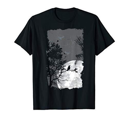 Full Moon Crow Gloomy Forest Kostüm Awesome Halloween Gift T-Shirt (Awesome Zombie Kostüm)