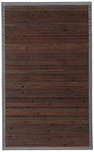 Carpemodo Badvorleger Badteppich Bambusteppich Farbe Braun Größe 50x80 cm Bambusmatte