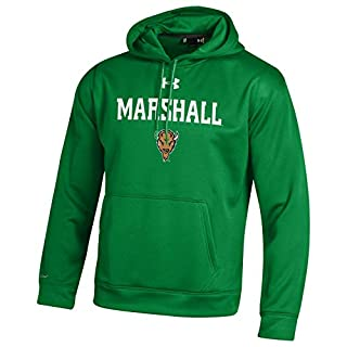 Under Armour NCAA Marshall Thundering Herd Men's Fleece Hoodie, XX-Large, Team Kelly Green