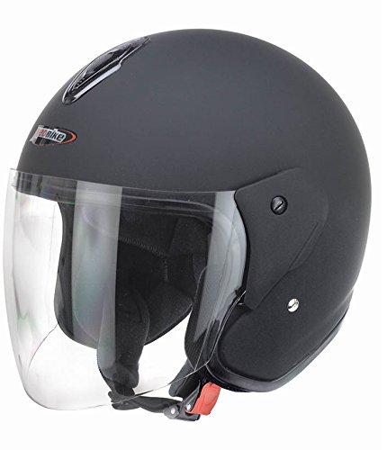 Redbike Helm RB-915 Motorradhelm Rollerhelm Sturzhelm Helm matt-schwarz S