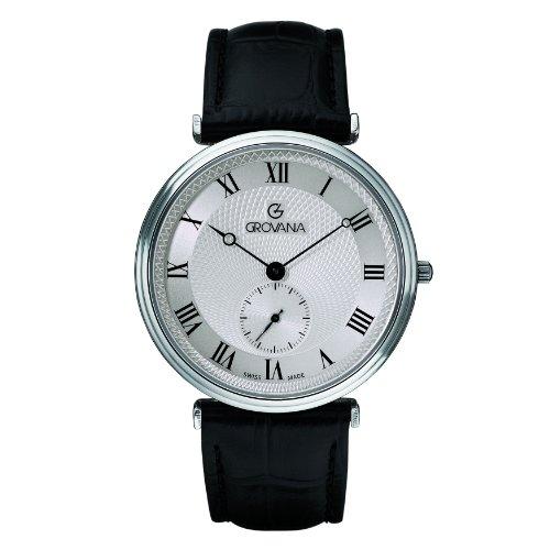 Grovana - 1276.5538 - Montre Homme - Quartz Analogique - Bracelet Cuir Noir