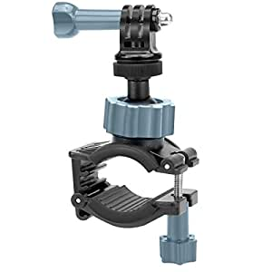 Action Camera Bike Handlebar Mount Bracket / Tripod Clamp with 360 Rotating Neck - Works with GoPro Hero5 / VicTsing / Apeman / DBPOWER and many more!