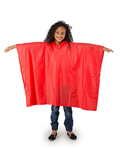 Rain Poncho Child Size Suit Ages 6-10 Years Waterproof PVC Material