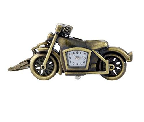 Neuheit Motorrad-anhänger (Messing Retro-Stil Motorrad Quarz keychain / Tasche für Männer und Frauen Neuheit Taschenuhr beobachten)