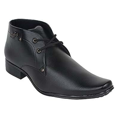 I-Sports Men's Synthetic Black Formal Shoes 10 UK