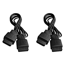 1.8M Extension cable for Sega Saturn Controllers 6ft lead wire - 2 pack black | ZedLabz
