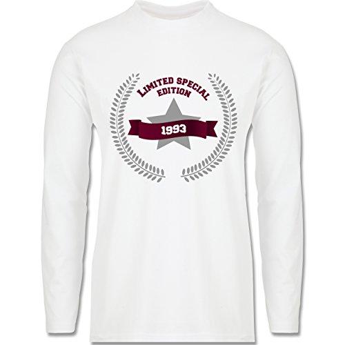 Geburtstag - 1993 Limited Special Edition - Longsleeve / langärmeliges T-Shirt für Herren Weiß