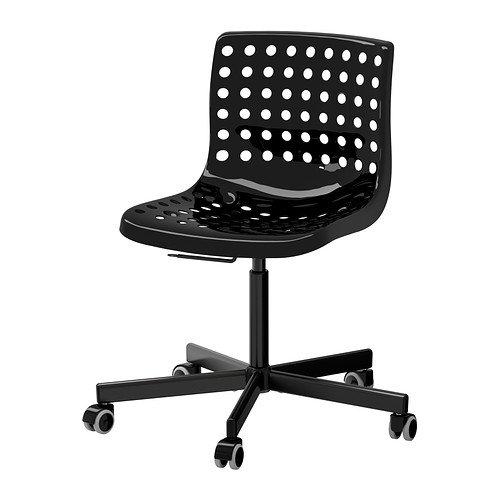 """IKEA Schreibtischstuhl \""""SKÅLBERG\"""" Drehstuhl mit höhenverstellbarer Sitzschale - SCHWARZ - DREHBAR"""