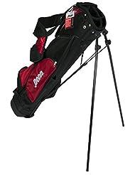 """schwarz rot PENN 6,5"""" Golfbag 4 Fächer Golftasche Standbag Golf Bag Damen Herren 25680"""