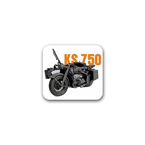 Copytec Aufkleber/Sticker -KS 750 Wh Motorradgespann Motorrad Gespann Oldtimer Bike überschweres kaufen Sammler Treffen 8x7cm #A2249