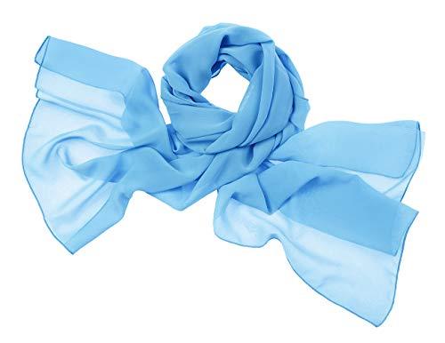 bridesmay Chiffon Stola Schal Scarves für Kleider in Verschiedenen Farben Blue S - Satin Blue Frauen Kleider Für
