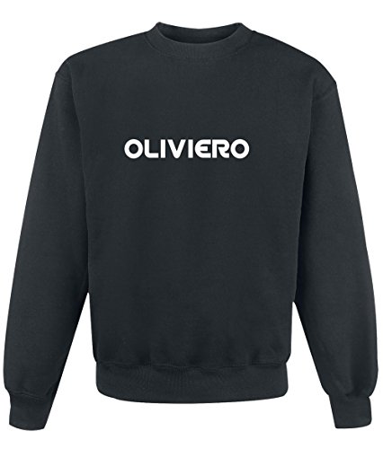 Felpa Oliviero - Print Your Name Black