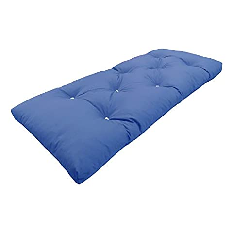 MyLayabout Single   1 Seater   Memory Foam Futon Mattress   Roll Out Bed   Guest Bed   Dark Blue   190cm x 75cm   UK Manufactured   9 Colours Available   3 Sizes Available