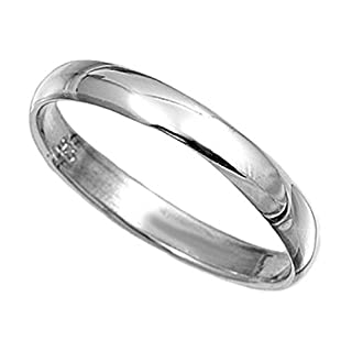 Sterling Silver Ring 3mm Band In Sizes G,H,I,J,K,L,M,N,O,P,Q,R,S,T,U,V,W,X,Y,Z (G)