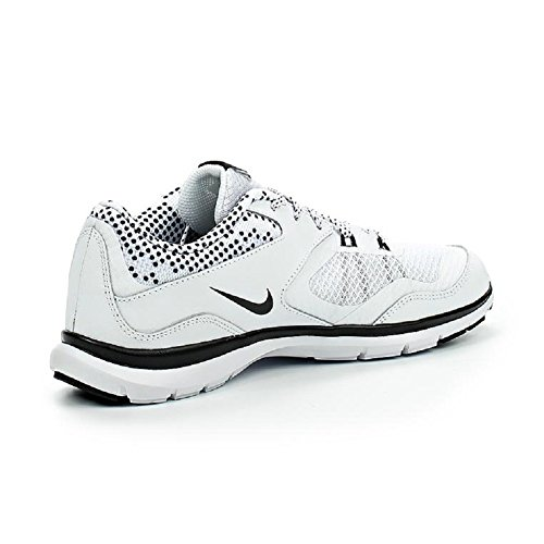 Nike Unisex-Erwachsene Wmns Flex Trainer 5 Print Turnschuhe Blanco (White / Black-Pure Platinum)