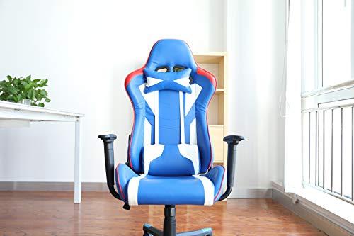 AuAg Gaming Siedia, Racing Sedia,Cartella Superiore Regolabile,Sedia da Ufficio in Pelle PU, Sedia...