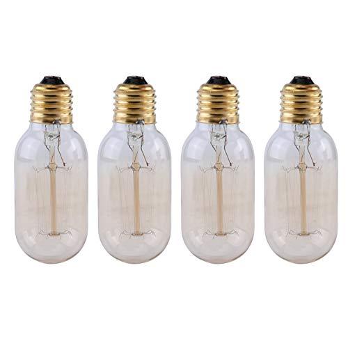 Amber Bulb Cover (Eduton 4pcs T45 Laterne Art Helle E27 40W Antike Lampen-Birnen-AC220-240V 2800-3500K)