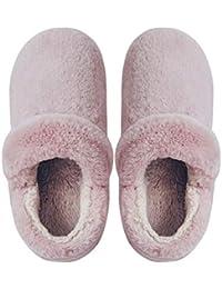 Pantofole Invernali Calde Ciabatte Casa Pattini per Donna e Uomo Lovers  Pantofola Imbottitura Calda Tessuto di d1747d1c59e