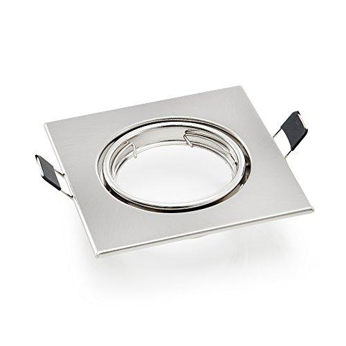 Quadratischen Sockel ([lux.pro] Einbaustrahler Rahmen / Einbaurahmen (quadratisch) für GU10 Spot Sockel - LED - schwenkbar)