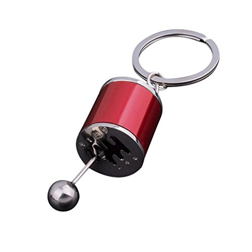 Gaddrt Gear Knopf Gear Shift Gear Stick Gear Box Metall Schlüsselanhänger Keyfob Auto Schlüsselanhänger Geschenk (Rot)