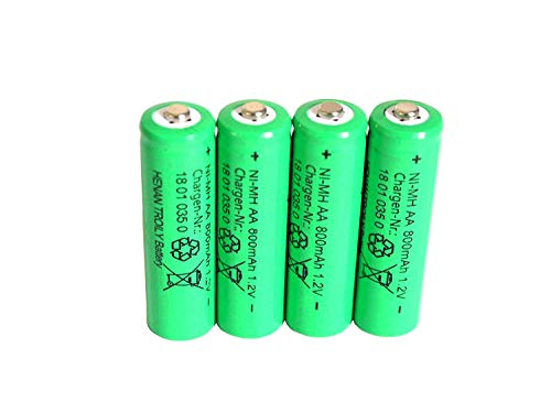 4 er Set Solar-Akku, leistungsstarke, wiederaufladbare Batterien AA- NiMH, 800mAh Aa Solar Akku