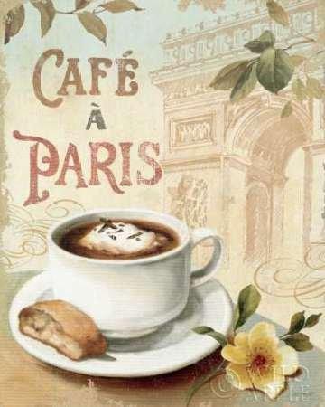 De Arc Triomphe-dekor (Cafe in Europe I von Audit, Lisa Kunstdruck auf PAPIER - Klein (20 x 25 cms ))