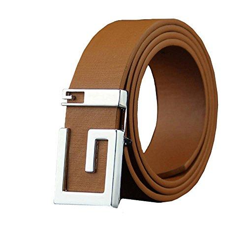 MDenker Ledergürtel für Herren aus 100% Echt-Leder in schwarzBraun, Schwarz, Weiß, Kaffee, Blau - Herrengürtel - Gürtel 3,5 cm breit - Anzuggürtel - Herren Gürtel Leder (Braun)