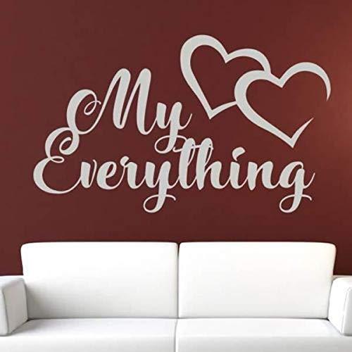 Mein Alles Liebe Herzen Nachricht VinylEntfernbare WandaufkleberFür Wohnzimmer Sweet Home Murals Decals Schlafzimmer Poster95X57 cm