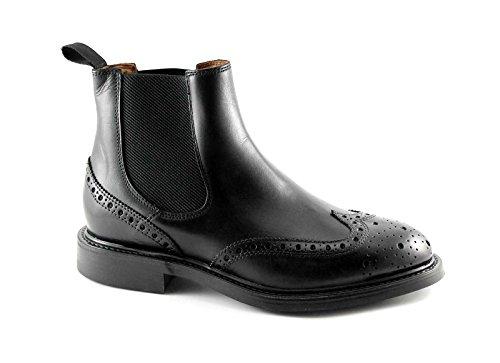 FRAU 73M6 nero scarpe uomo sivaletti beatles pelle