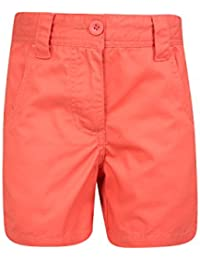 Mountain Warehouse Short Enfant Fille Ado été 100% Coton Poches Confort Waterfall