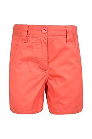 Mountain Warehouse Short Enfant Fille Ado été 100% Coton Poches Confort Waterfall Corail 13 ANS