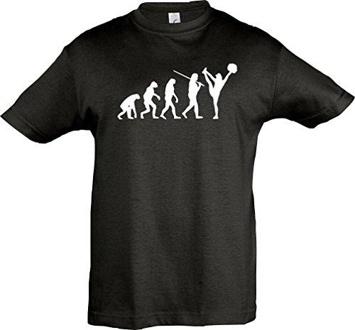 Krokodil Kinder-Shirt Evolution Cheerleader Cheerleading Kostüm Fun Sport Tanz viele Farben, Größe 104-164