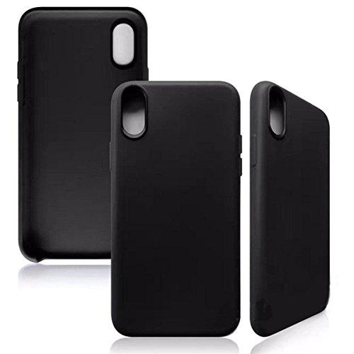iPhone 8 Hülle Silikonhülle für Apple iPhone 8 Hülle Silikon TPU Schutzhülle Slim Case Cover, Weiß Schwarz