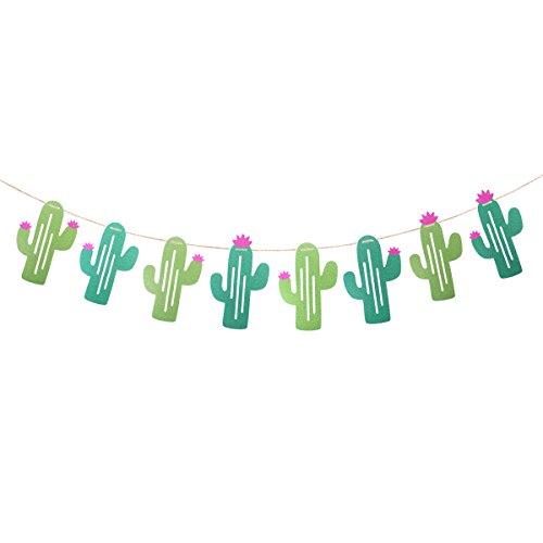 awaiian Luau Garland Kaktus Banner für Sommer Pool Tropical Party Supplies Geburtstag Party Dekoration - Größe L ()