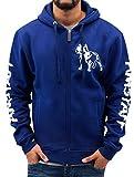 Amstaff Herren Zip Hoodies Logo blau 2XL