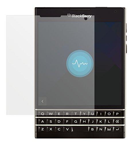 dipos I 2X Schutzfolie matt passend für BlackBerry Passport Folie Displayschutzfolie