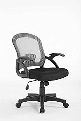 Mesh Style Low back Extra padded Black Seat Office Chair produced by Meriden Furniture - quick delivery from UK.
