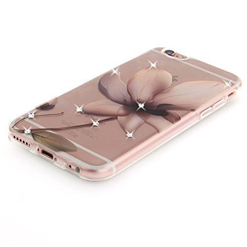 Nutbro iPhone 6 Plus Case,iPhone 6S Plus Case Fashion Flower Lace Pattern Soft Silicon TPU Phone Case Luxury Diamond Cases Cover case TPU-TX-6S-Plus-58