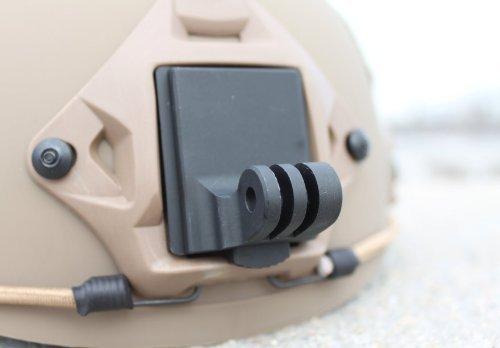 Buwico Aluminium Fixed Mount NVG Helm Montieren Base für GoPro 4/3+/3/2/1 -