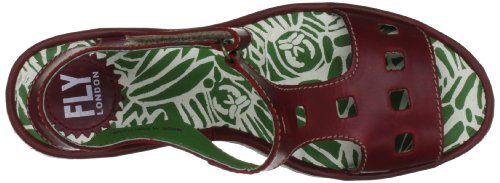 Fly London Yist, Sandales femme Rouge (Red)