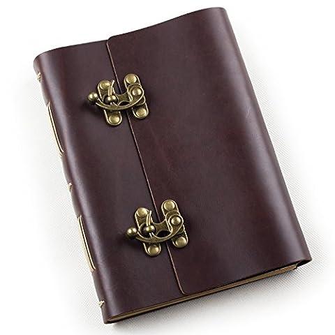 Agenda journal en cuir véritable Vintage avec serrure fait à