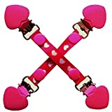 CuteToots Mitten clips / Glove clips for kids and adults! -Pink Hearts