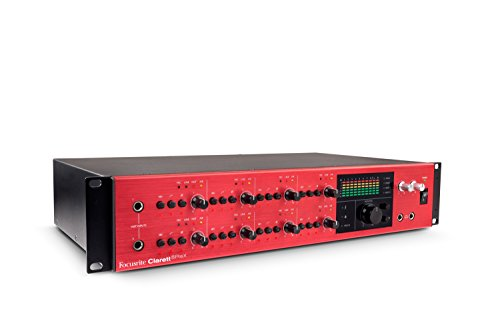 Focusrite Clarett 8PreX 26x28 Thunderbolt-Audio-Interface mit 8 Mic-Pre-Amps und erweiterbaren I/O
