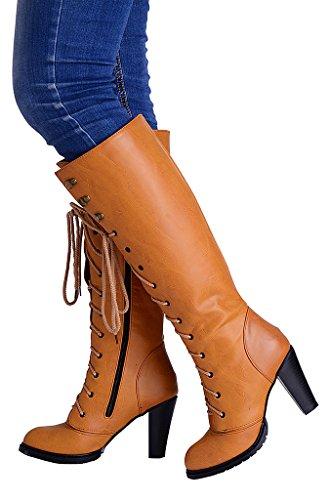 Odema Femme Chaussures a talons hauts 975 Jaune